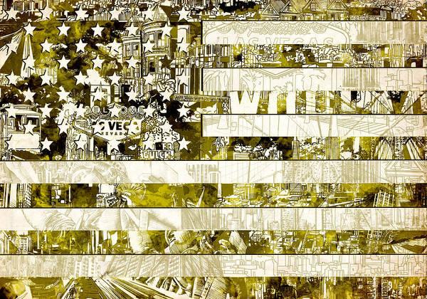 Wall Art - Painting - Usa Flag 13 by Bekim M