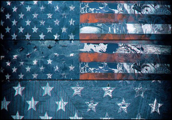 Wall Art - Painting - Usa Flag 8 by Bekim M