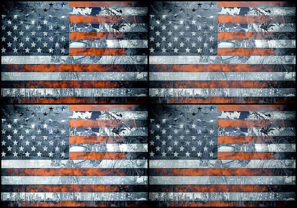 Wall Art - Painting - Usa Flag 9 by Bekim M