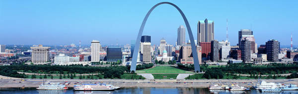 Mississippi River Photograph - Usa, Missouri, St. Louis, Gateway Arch by Panoramic Images