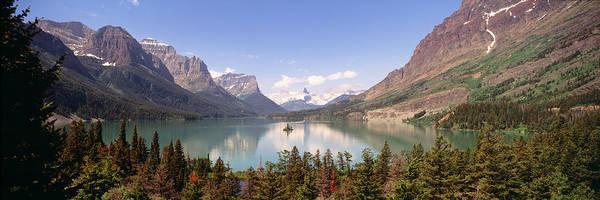 St. Marys Photograph - Usa, Montana, Saint Mary Lake by Panoramic Images