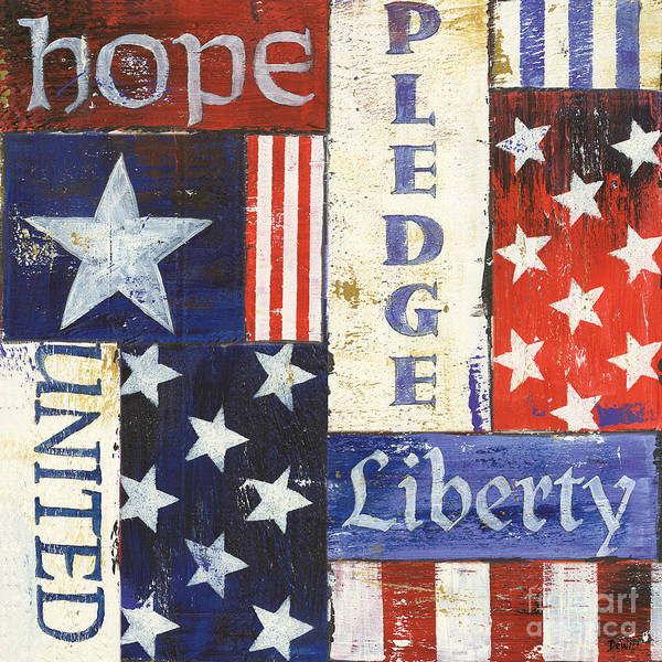 Flag Wall Art - Painting - Usa Pride 1 by Debbie DeWitt