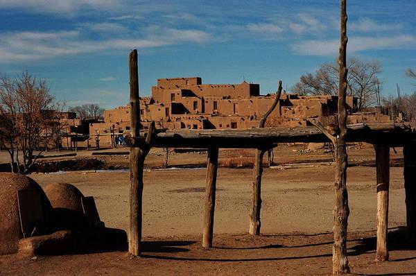 Usa - Taos Pueblo New Mexico Art Print by Jacqueline M Lewis
