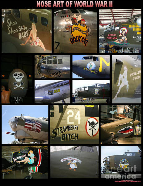 Wall Art - Photograph - Usaaf Nose Art Of World War II by Tommy Anderson