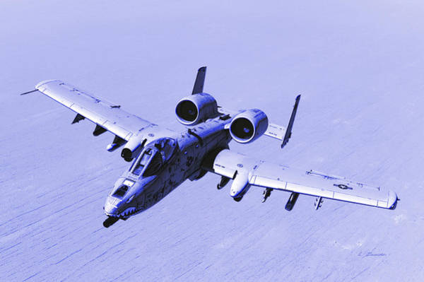 Wall Art - Photograph - Usaf A-10 Thunderbolt II Attack Over Afghanistan  by L Brown