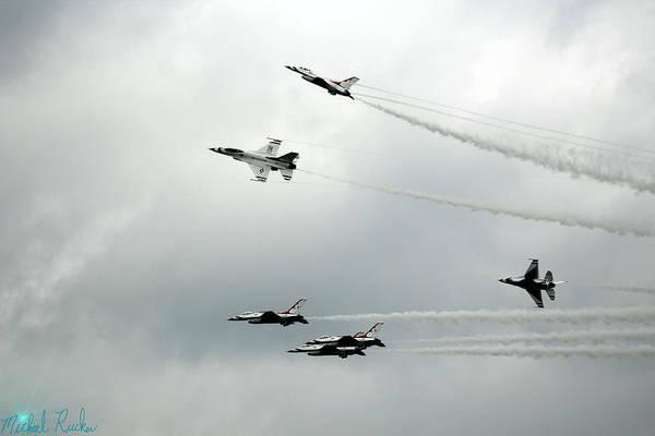 Wall Art - Photograph - Air Force Thunderbird's by Michael Rucker