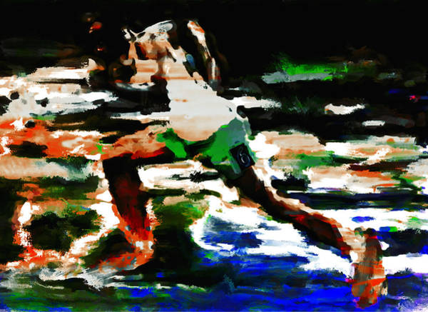 Speed Record Mixed Media - Usain Bolt 3f by Brian Reaves