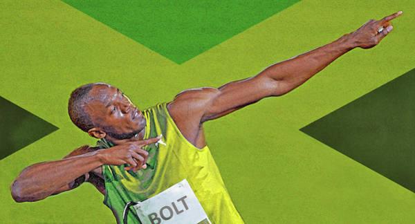 Jamaica Digital Art - Usain Bolt by Mal Bray