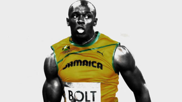 Speed Record Mixed Media - Usain Bolt On The Move by Brian Reaves