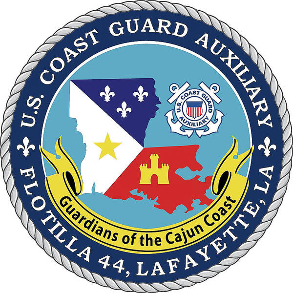 Photograph - Uscga Flotilla 44 Logo by Gregory Daley  MPSA