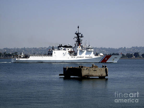 Photograph - Uscgc Bertholf Underway In San Diego by Michael Wood