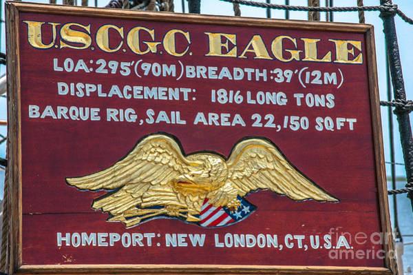 Photograph - Uscgc Eagle Plaque by Dale Powell