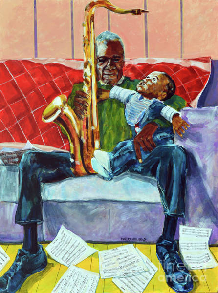 Sax Painting - Use 2b So Ez - 2b Continued by Charles M Williams