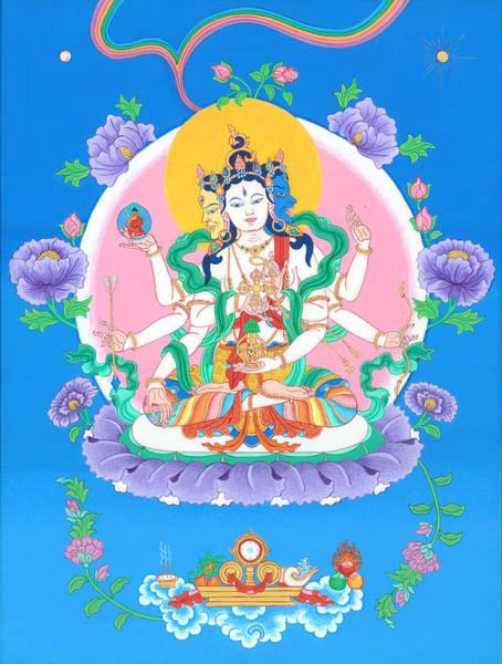 Thangka Painting - Ushnisha Vijaya by Ies Walker