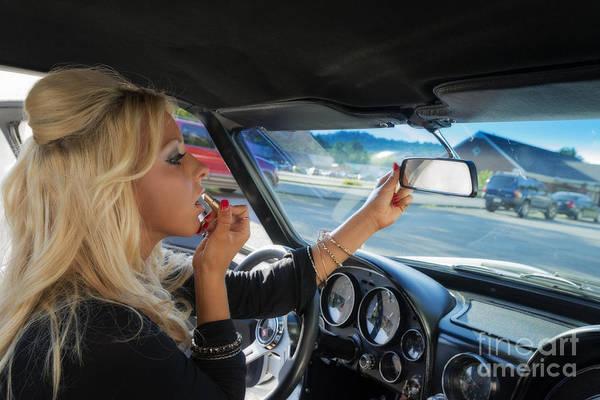 Photograph - Using The Car Mirror by Dan Friend