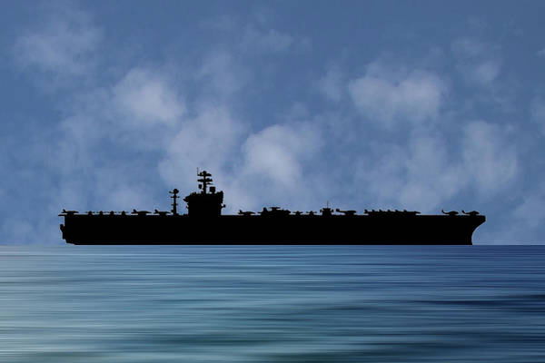 Aircraft Carriers Photograph - Uss Abraham Lincoln 1988 V1 by Smart Aviation