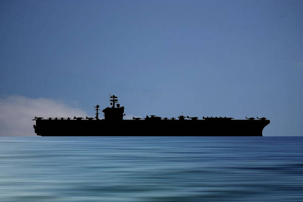 Aircraft Carriers Photograph - Uss Abraham Lincoln 1988 V4 by Smart Aviation