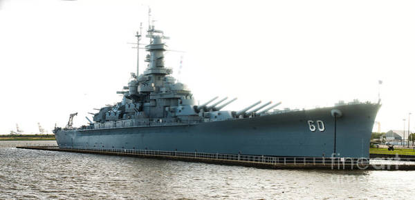 Wwii Mixed Media - Uss Alabama Bb-60, Battleship, Wwii, World War Two by Baltzgar