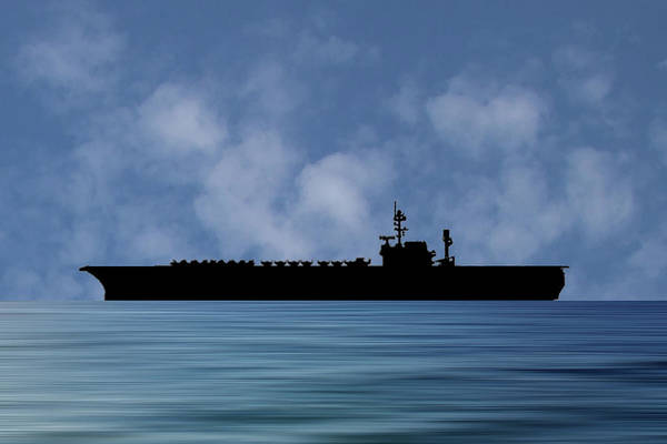 Wall Art - Photograph - Uss America 1965 V1 by Smart Aviation