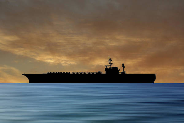 Wall Art - Photograph - Uss America 1965 V2 by Smart Aviation