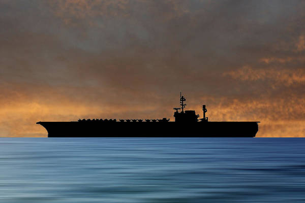 Wall Art - Photograph - Uss America 1965 V3 by Smart Aviation