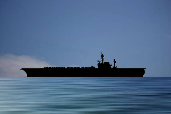 Wall Art - Photograph - Uss America 1965 V4 by Smart Aviation