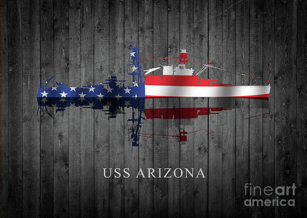 Uss Arizona Wall Art - Digital Art - Uss Arizona by J Biggadike