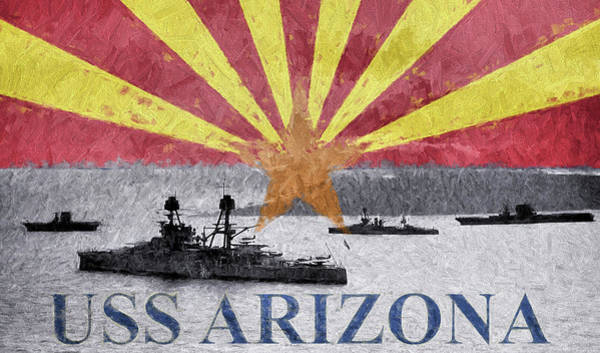 Uss Arizona Wall Art - Digital Art - Uss Arizona by JC Findley