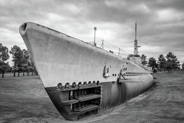 Muskogee Photograph - U.s.s. Batfish In Bw by James Barber