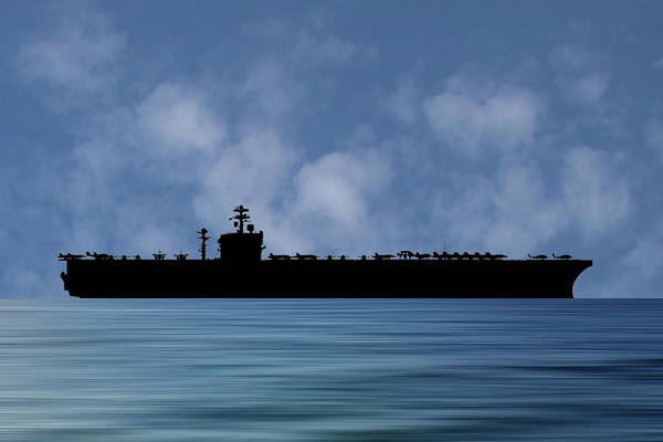 Navy Photograph - Uss Carl Vinson 1982 V1 by Smart Aviation