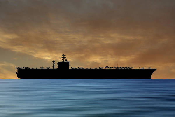 Navy Photograph - Uss Carl Vinson 1982 V2 by Smart Aviation