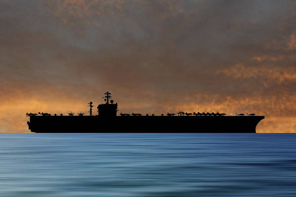 Navy Photograph - Uss Carl Vinson 1982 V3 by Smart Aviation