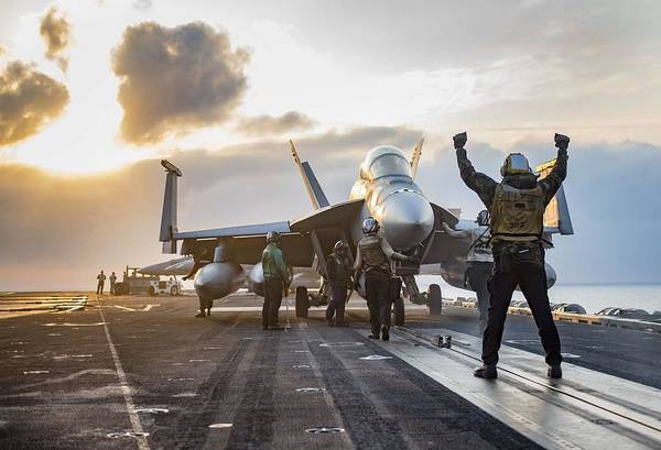 Wall Art - Painting - Uss Carl Vinson Conducts Flight Operations 1 by Celestial Images