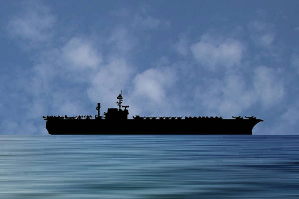 Wall Art - Photograph - Uss Constellation 1956 V1 by Smart Aviation