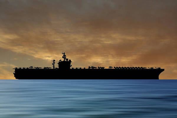 Navy Photograph - Uss  Dwight D. Eisenhower 1977 V2 by Smart Aviation