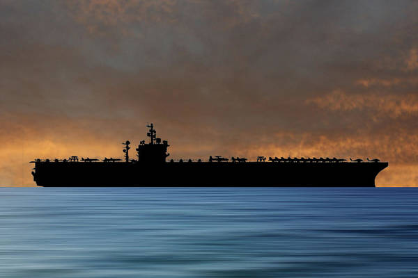 Navy Photograph - Uss  Dwight D. Eisenhower 1977 V3 by Smart Aviation