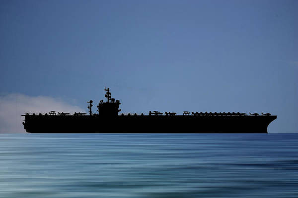 Navy Photograph - Uss  Dwight D. Eisenhower 1977 V4 by Smart Aviation