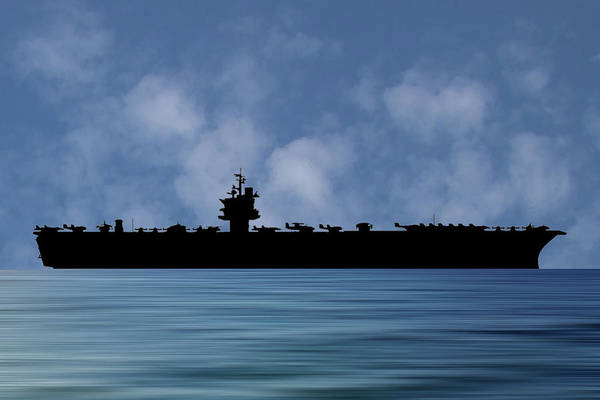 Aircraft Carriers Photograph - Uss Enterprise 1960 V1 by Smart Aviation