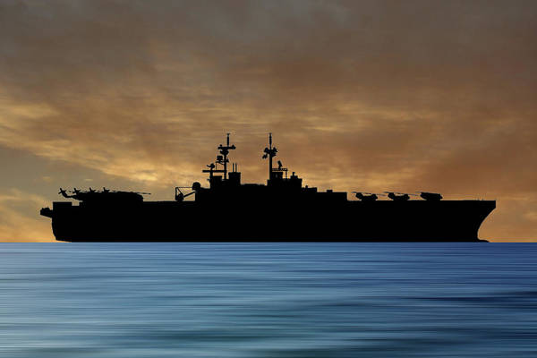 Amphibious Assault Ship Wall Art - Photograph - Uss Essex 1992 V2 by Smart Aviation