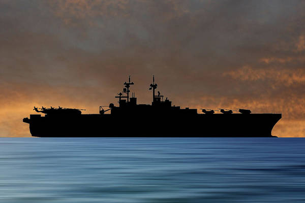 Amphibious Assault Ship Wall Art - Photograph - Uss Essex 1992 V3 by Smart Aviation