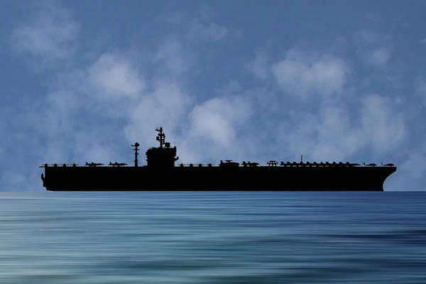 Uss George Washington Wall Art - Photograph - Uss George Washington 1992 V1 by Smart Aviation