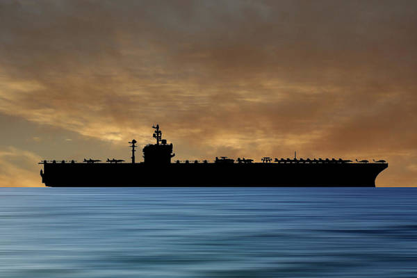 Wall Art - Photograph - Uss George Washington 1992 V2 by Smart Aviation