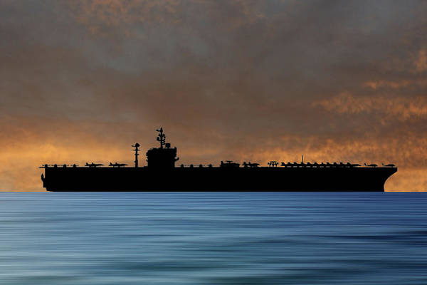 Uss George Washington Wall Art - Photograph - Uss George Washington 1992 V3 by Smart Aviation