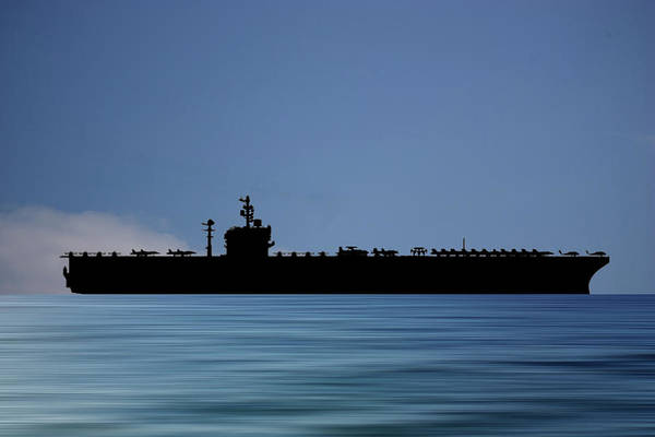Uss George Washington Wall Art - Photograph - Uss George Washington 1992 V4 by Smart Aviation