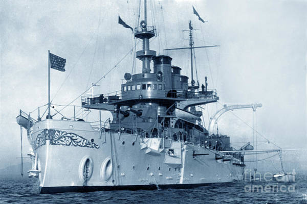 Photograph - Uss Georgia Bb-15 Was A United States Navy Virginia-class Battleship 1908 by California Views Archives Mr Pat Hathaway Archives