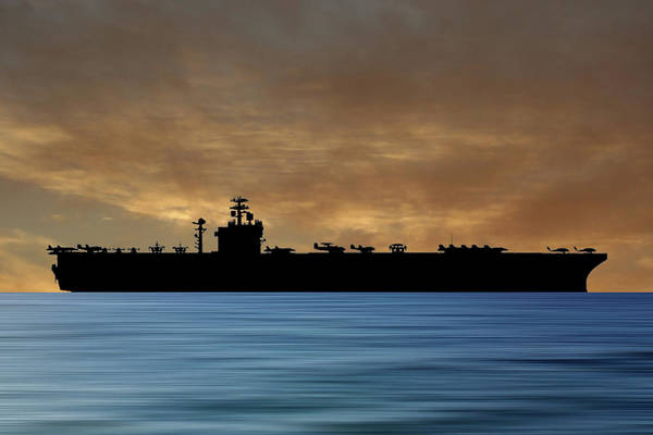 Aircraft Carriers Photograph - Uss Harry S. Truman 1998 V2 by Smart Aviation