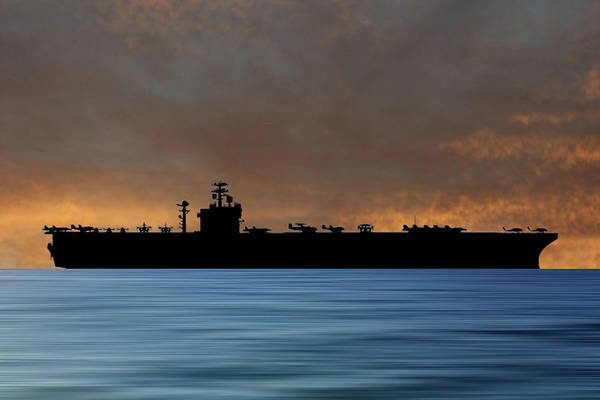 Wall Art - Photograph - Uss Harry S. Truman 1998 V3 by Smart Aviation