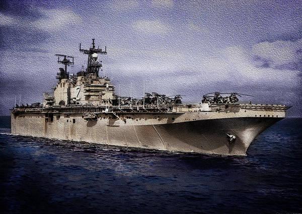 Uss Iwo Jima Lph2 Art Print