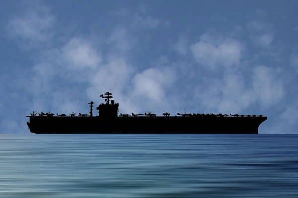 Wall Art - Photograph - Uss John C. Stennis 1995 V1 by Smart Aviation
