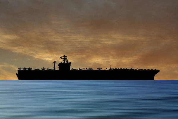 Wall Art - Photograph - Uss John C. Stennis 1995 V2 by Smart Aviation